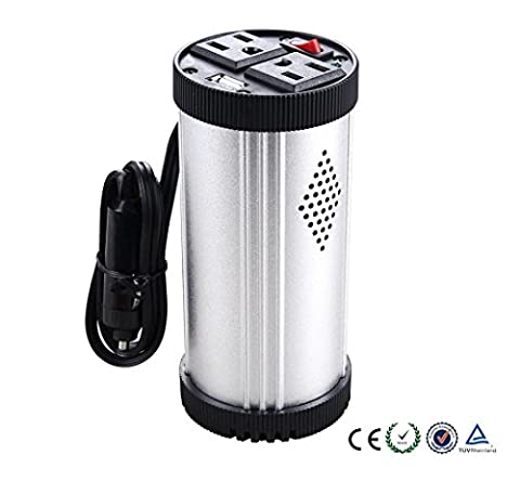 150-Watt-Continuous Cup-Holder 12V-220V dual USB output 5V2.1A car inverter , 120w 12v-220v