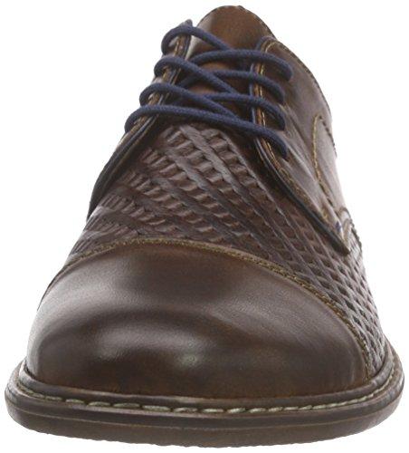 Rieker 13412 Lace-up-men, Derby homme Marron - Braun (marron/marron/navy/cigar / 27)