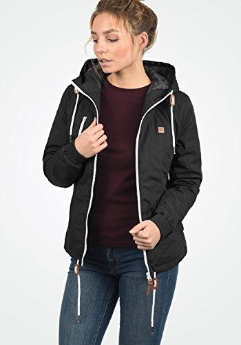 DESIRES Tilda Damen Übergangsjacke Jacke gefüttert mit Kapuze, Größe:XS, Farbe:Black (9000) - 4