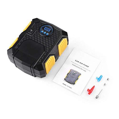 Gavux Autoreifenpumpe, Reifenfüller, 12 V Tragbare Digitale Manometer Luftkompressor, für Auto Motorrad Basketball Fußball
