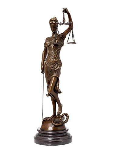 Bronzeskulptur Justitia Justizia Bronze Figur Skulptur 41cm Sculpture Justice