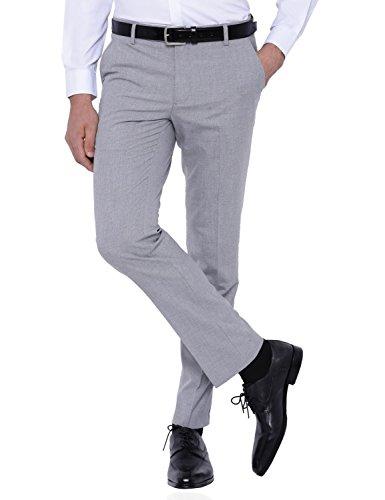 Black Coffee Men's Formal Trousers (11120001498700_BCTR004366_30W x 33L_Light Grey)