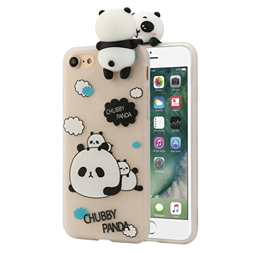 iPhone 7 Hülle, Gusspower 3D Art- und Weisekarikatur-Tier-netter bloßer Bären Weicher Silikon-Dekompressions-Kasten für IPhone 7 4.7 Zoll (C)