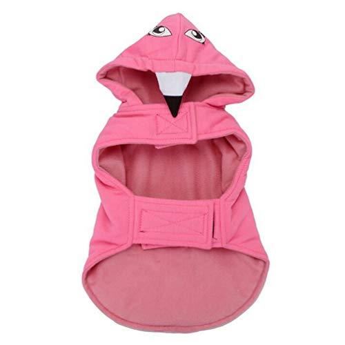 Balacoo Lustiges Hundekostüm Flamingo Cosplay Outfits Winter Hund Kleidung Mantel Kleidung Kleidung für Haustier Party Gastgeschenk Outdoor Pink Größe S