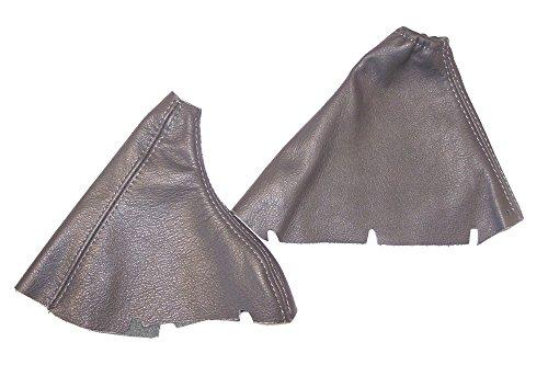 pour-volvo-s80-mk1-1998-06-manuel-frein-a-main-gear-guetres-en-cuir-gris