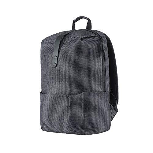 College Style Rucksack 15,6 Zoll Laptop Taschen große Kapazität 18L Schule für Frauen Männer Junge Mädchen Preppy Style schwarz 15.6inck