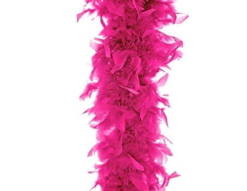Boa Feather Pink Kostüm - event-kauf Boa Federboa Feder-Schal Party Karneval Kostüm 180 cm lang (Pink)