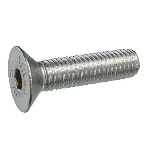 5 Senkkopfschrauben Edelstahl M10 x 40 mm – ISO 10642 / DIN 7991 – Senkschrauben mit Innensechskant und Vollgewinde – Werkstoff A2 (VA / V2A)