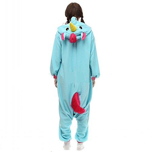Misslight Unicorn Pyjamas dames Combinaisons Costumes animaux tenue d'animaux pyjama grenouillère animaux avec le festival de costumes licorne adultes ajustement blue