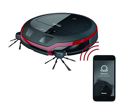 *Miele Scout RX2 Saugroboter (4 Reinigungsmodi, Bedienung per App, Akkulaufzeit 60 min, präzise und lückenlose Navigation dank 3D Smart Navigation) schwarz/rot*