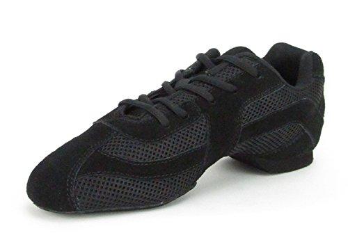 1573scafo Sparrow Split Sole Danc esneaker danza sneaker scarpe da ballo hip Lindy Hop ginnastica aerobica formazione HALLEN Scarpe nero