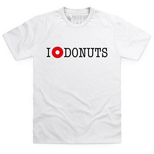 I Heart Donuts T-Shirt, Herren Wei