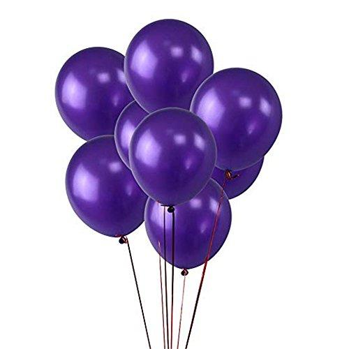 (BTTBEST 100pcs Dark Purple Ballons 12 Zoll Dicker Latex 280g / Beutel Ballons Plain Farbe Dark Purple Pearlized)