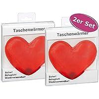 itsisa Taschenwärmer Herz, 2er Set - Wichtelgeschenk, Handwärmer, Taschenheizkissen preisvergleich bei billige-tabletten.eu