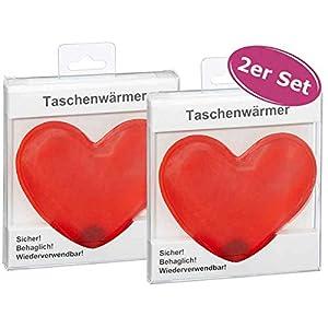 itsisa Taschenwärmer Herz, 2er Set – Wichtelgeschenk, Handwärmer, Taschenheizkissen