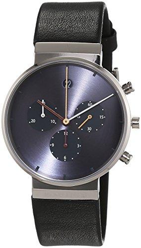 Jacob Jensen Mens Chronograph Quartz Watch with Rubber Strap Item NO.: 605