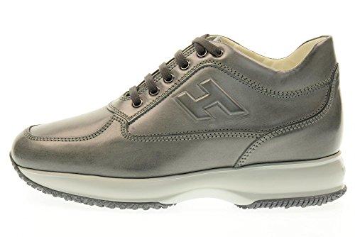 HOGAN scarpe uomo sneakers basse HXM00N090418A1B401 INTERACTIVE Grigio
