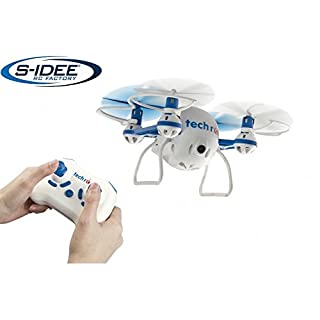 s-idee® 01634 TR001 Quadrocopter mit HD Kamera, Headless Mode, One Key Return Selfie Drohne 360° Flip Funktion, 2.4 GHz mit Gyro, 4-Kanal, 6-AXIS System Drone mit Camera 720p
