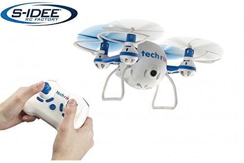 s-idee® 01634 TR001 Quadrocopter mit HD Kamera, Headless Mode, One Key Return Selfie Drohne 360° Flip Funktion, 2.4 GHz mit Gyro, 4-Kanal, 6-AXIS System Drone mit Camera 720p