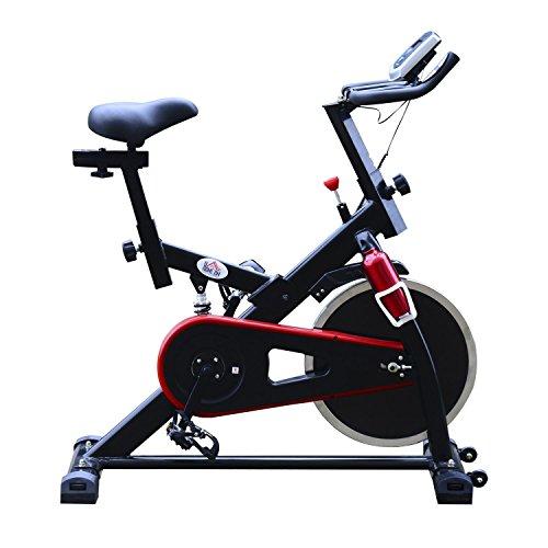 Homcom – Cyclette Professionale per Allenamento Spinning 103 × 45 × 103cm Nero