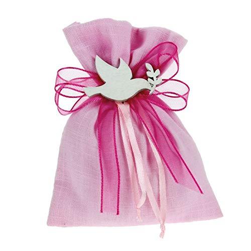 Bomboniere Fai da Te Kit bomboniere Rosa Completo di Sacchetti Decorazioni e Nastri Confezione da 30 Pezzi