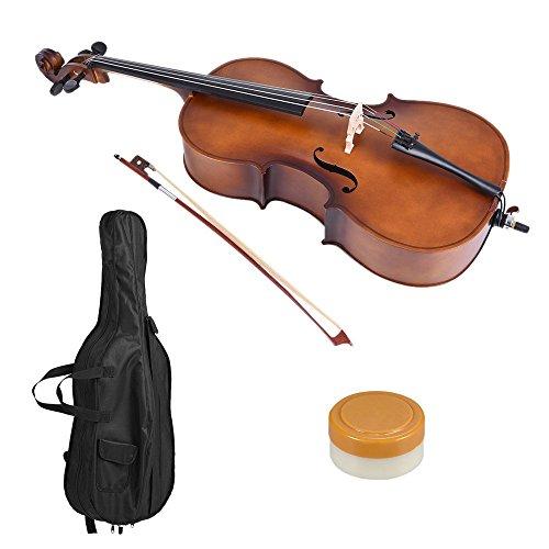 1/4 Holz-Cello Mattem Finish Linde Gesicht Brett mit Bogen Rosin Tragetasche für Studenten Music Lovers