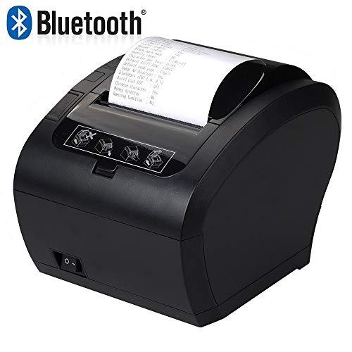 [Bluetooth 2.0] 80mm Nero Stampante Termica Auto-Cut Supporto Cassetto 300mm/sec MUNBYN Diretta con USB Ethernet Supporta Windows/Linux System/ESC/POS
