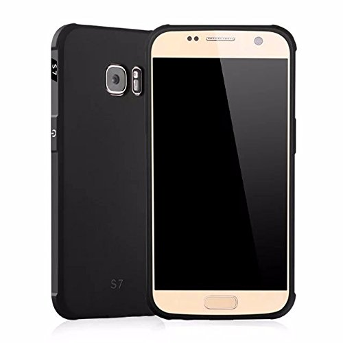 Kapa Matte Finish Shockproof [Full Body Coverage ] Flexible Back Case Cover for Samsung Galaxy S7 – Black