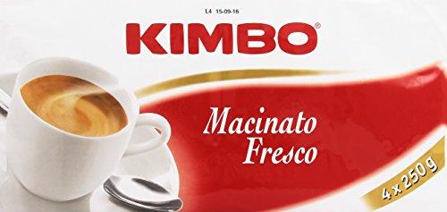Kimbo Caffè Macinato, Fresco - Confezione da 4 x 250 gr