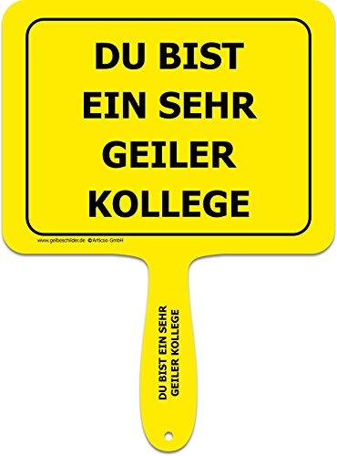 'Du bist eine sehr coole Frau' - Lustiges gelbes Kunststoffschild mit Griff - Text - GELBE SCHILDER - DAS ORIGINAL