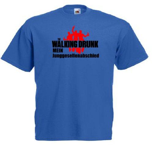 T-Shirt für den Junggesellinnenabschied mit dem Motiv The walking drunk - Junggeselle Royal