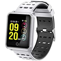 C-Xka Reloj inteligente, pantalla anti-acuarela IP68 pulsera inteligente Rastreador de ejercicios Presión arterial ritmo cardíaco movimiento de monitoreo en tiempo real para Hombres Mujeres Niños Comp