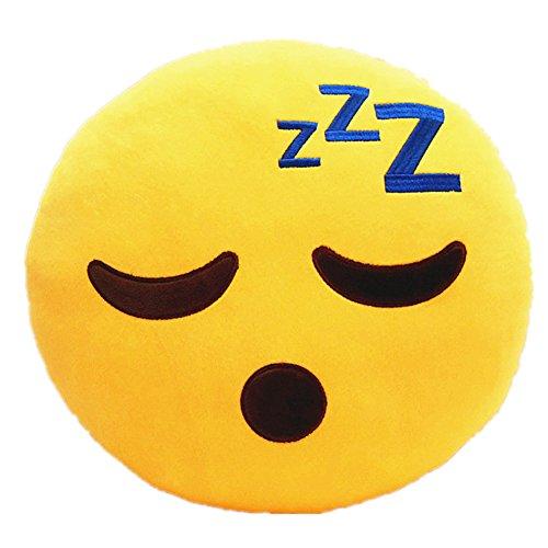 LI&HI Emoji Lachen Emoticon Kissen Polster Dekokissen Stuhlkissen Sitzkissen Rund(dösen)