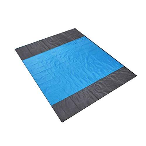 WINLISTING Vatertag Sand Free Beach Mat Picknickdecke Teppich im Freien Sandless Matratze Pad (A, Blau) - Blaue Shag Teppich