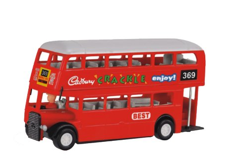 Shinsei Toys Deluxe Double Decker Bus, Red