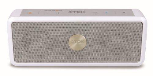 TDK A33 - Altavoz Bluetooth, estéreo, portátil, Acc a Prueba de Agua y con micrófono, Blanco