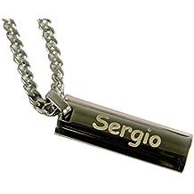 Regalo para hombres personalizable: colgante de acero grabado con su nombre o el texto que quieras