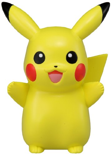 Takara Tomy Pokemon Pikachu figure on the palm of the hand Happy Japan [Toy] (japan import)