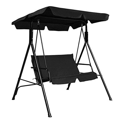 dDanke Outdoor Garten Terrasse Swing Seat Ersatzbezug Set für UV-regenfest (Schaukelstuhl-Überdachung + 2-Sitzer Kissenbezug)