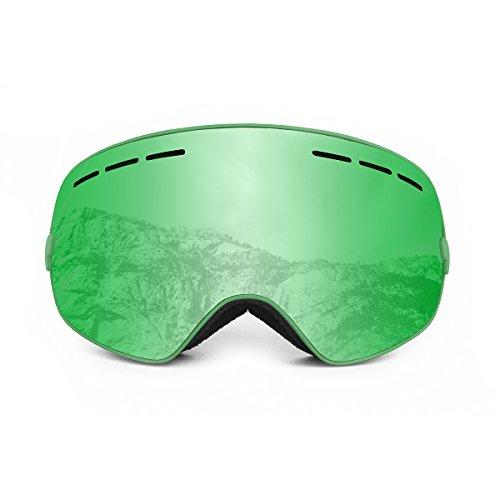 Ocean Sunglasses - Cervino - Masque - Monture : Vert - Verres : Revo Vert (YH-3105.1)