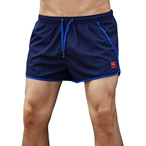(GreatestPAK Quick Dry Herren Shorts Badehose Strand Surfen Laufen Schwimmen Wasser Shorts,Blau,M)