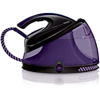Philips GC8650/80 PerfectCare Aqua Silence Steam Generator Iron with OptimalTemp - 330 g Silent Steam Boost, 2.5 L, 2400 W - Black/Purple