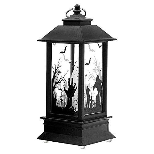 Halloween Candle Lampe Garden Candle Laterne Mann-Made Flamme Lampe Mit Knopf Akku Dekorative Requisiten Bar Festliche Dekorationen,B