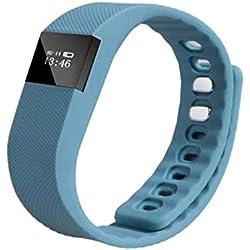 Smart Watch,Fortan Wrist Band Sleep Sports Tracker Pedometer Bracelet Watch_Deep Blue