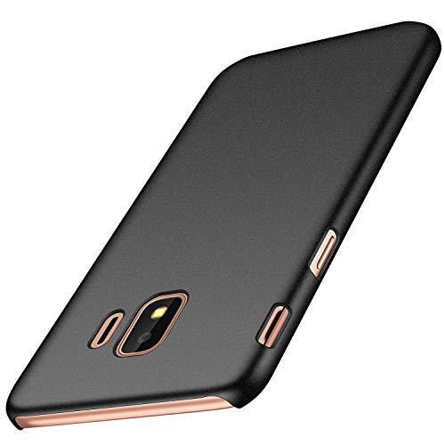 anccer Samsung Galaxy J2 Core Hülle, [Serie Matte] Elastische Schockabsorption und Ultra Thin Design für Samsung Galaxy J2 Core (Kies Schwarz)