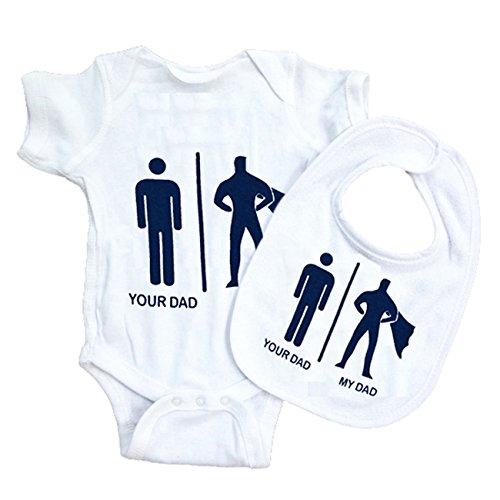 Funny algodón tu papá mi papá Body para bebé baberos Grow regalo no tóxica  de chaleco be0ec29dad9