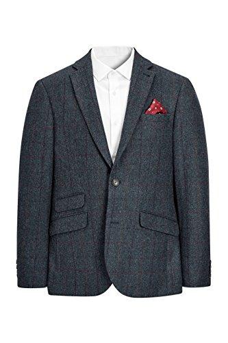 next Herren Schmal geschnittene Signature Donegal Jacke aus britischer Wolle Slim Fit Blau