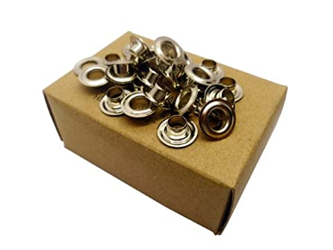 144 x Nickel Plated Brass Eyelets Size 0 - 6mm Internal Dia.