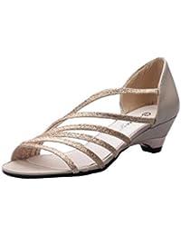 Lanspo - Sandalias para mujer blanco blanco, color blanco, talla 35