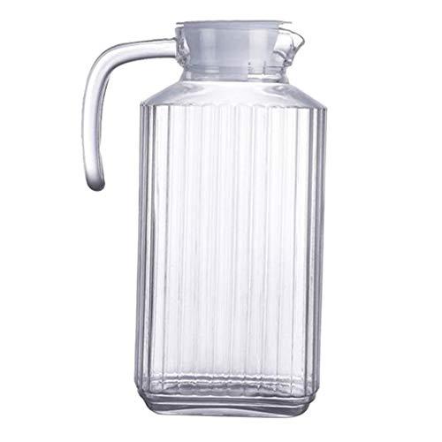 P Prettyia Getränkekanne Getränkekrug Wasserkrug aus Acryl für Kühlschrank oder Küche - Gestreifter Wasserkocher 1800ml